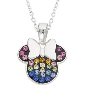 NWOT sterling silver & gemstone Minnie necklace